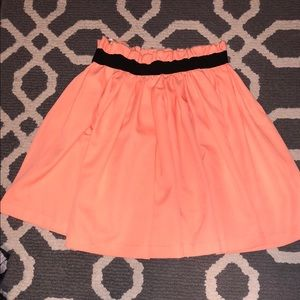 Everly coral skirt